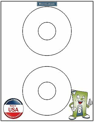 "200 CD/ DVD Laser / Ink Labels - Fits Template Size 5824 4.5"" Circle 100 Sheets!"