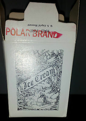 1950's  Polar Brand Ice Cream Box Picturing Skiers Free Shipping !