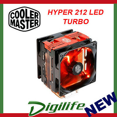 Cooler Master Hyper 212 LED Turbo CPU Cooler Heatsink Fan Intel 1151 AMD AM4 RED