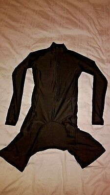 Black Cycling Skinsuit - Long Sleeved - All Sizes - No Logos so legal for racing