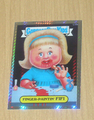 Topps Garbage Pail Kids GPK CHROME OS1 Lost PRISM refractor Finger-Paintin #L10A