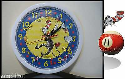 New Sealed DR SEUSS Cat in the Hat character wall clock 2006  Scholastics Horton