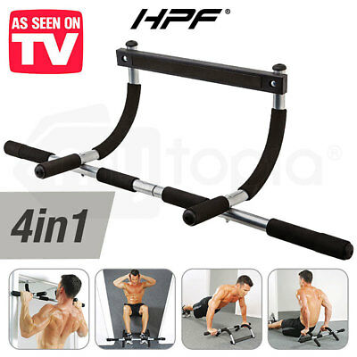 HPF Portable Chin Up Bar Home Doorway Wall Mounted Pull Up Dip Abs Exercise
