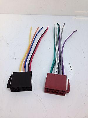 Car Radio Stereo Standard 16 Pin Wiring Harness Iso Connectors Loom Leads