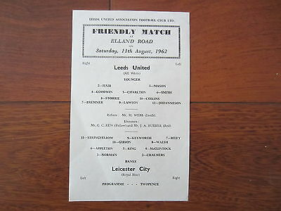 1962/3 LEEDS UNITED v LEICESTER CITY (FRIENDLY)