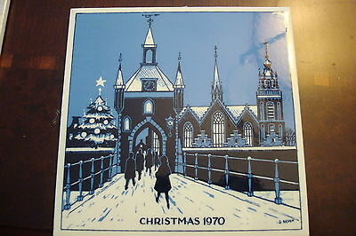 Genuine Delft Christmas Tile designed by Gerrit Neven, 1970,  Holland[a4*rack]