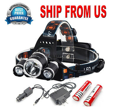 Zoomable 1600LM Cree XM-L T6 LED Head light Headlamp Rechargeable bicycle lamp