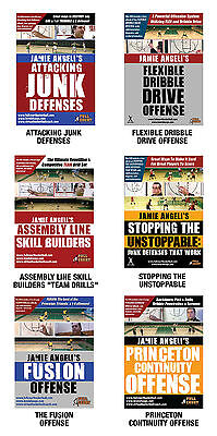 Coach Jamie Angeli Pack Of Six Basketball Coaching and Training DVDs - Deal