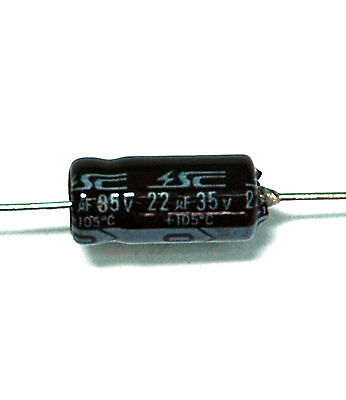 Spectrol//Vishay Corporation A22//35//105 Electrolytic Axial Capacitor 22uf  20 pcs