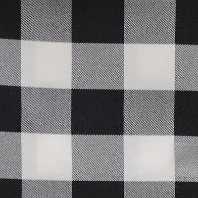 "BLACK & WHITE CHECKERED TABLECLOTH - 60"" x 60"" SQUARE - CHECKER PATTERN OVERLAY"