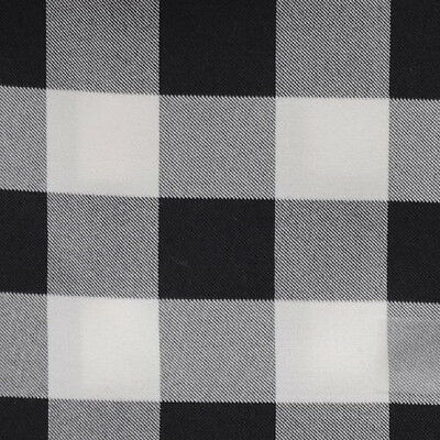 "BLACK AND WHITE CHECKERED TABLECLOTH - 60"" x 126"" - CHECKER PATTERN TABLECLOTHS"