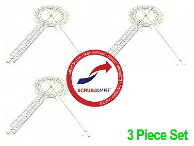 US Seller Free Fast Shipping 3 Pieces 3 New Goniometer s 12 inch 360 Degree ISOM