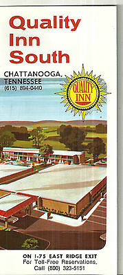 Vintage Brochure for Quality Inn South Chattanooga Tennessee Motel