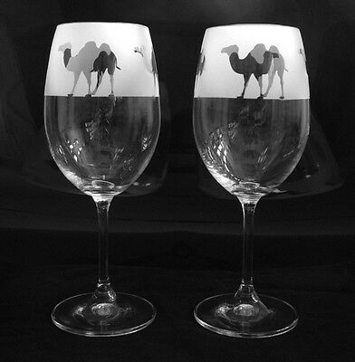 Camel Wine Glasses by Glass in the Forest..Boxed