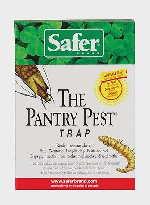 2pk SAFER Pantry Pest Trap Moths Flying Insects Ready To Use USE ANYWHERE Safe!!