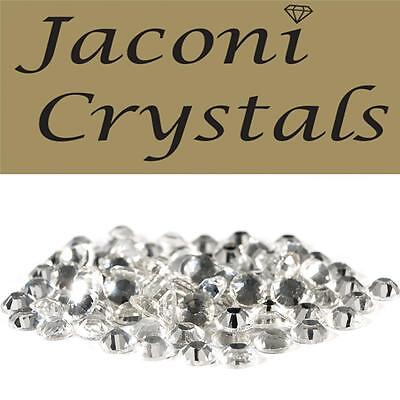 100 x 5mm JACONI Clear Glass Loose Round Flat Back Crystal Body Vajazzle Gems