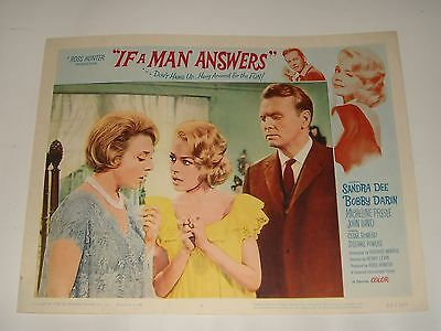 1962 IF A MAN ANSWERS LOBBY CARD 4 SANDRA DEE BOBBY DARIN