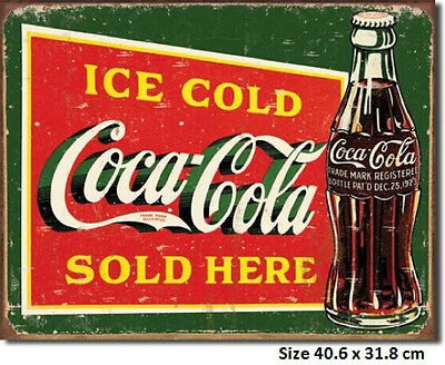 Coca Cola Sign Dec 25 1923 On Bottle Rustic Tin Sign 1393 NOT a Chinese FAKE.