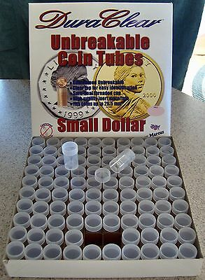 20 SMALL DOLLAR COIN TUBES - NEW - DuraClear brand - FREE SHIPPING