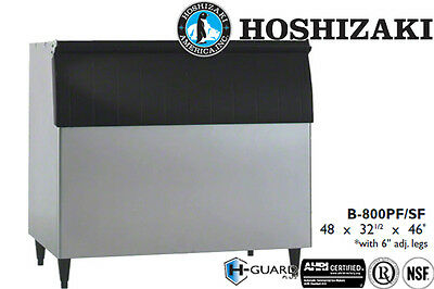 "Hoshizaki Ice Storage Bin 800 Lbs. Capacity 48"" Wide Stainless Steel"