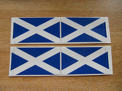 4x stickers 90mm x 50mm decals SCOTTISH SALTIRE FLAG