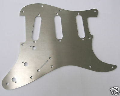 New S-Style Brushed Metal Scratch Plate Pickguard PG15