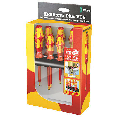 Wera 347777 6pc Insulated Screwdriver Set with Rack