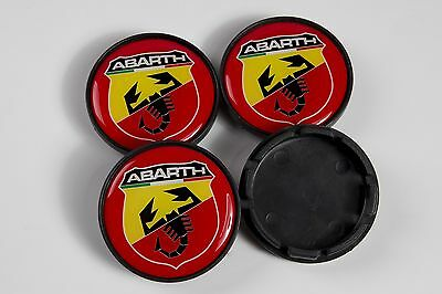 New FIAT ABARTH 4x55mm Wheel Center Caps / Hubs Set 4pcs ALL 55 mm MODELS