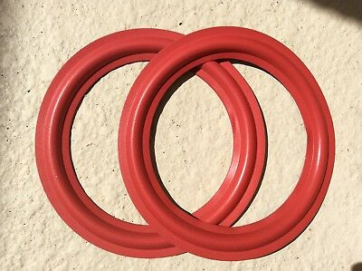 """CERWIN VEGA -PAIR OF NEW RED 8""""-REPAIR FOAM MOST ALL. D1 and DXW SERIES   MORE"""