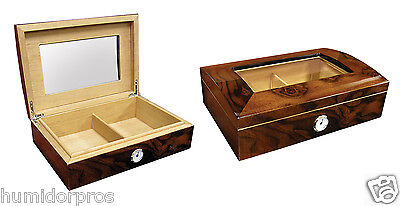 CIGAR HUMIDOR The Adison 40 ct. Glasstop w/ Humidifier & Front Mount Hygrometer