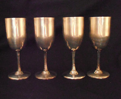Set of FOUR (4) Vintage Goblets Made in Switzerland - FHa 2