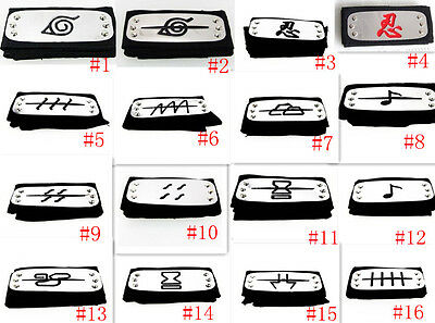 Great 1PC Japan Naruto Konoha Headband Cosplay Prop Best Gift Styles Selectable