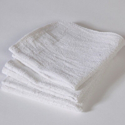 30 Terry Cloth 100% Cotton Cleaning Towels Shop Bar Rags 12X12 .85# Per