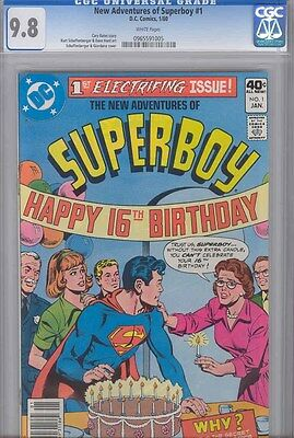 The New Adventures of Superboy #1  CGC 9.8 1980 with 16th Birthday Party
