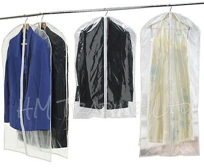 2 x Garment Suit Dress Clothes Coat Jacket Clothing Cover Travel Bag Carrier Zip