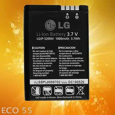 NEW OEM LG LGIP-520NV 3.7V 1000 mAh Battery Accolade VX5600 Cosmos Touch VN270