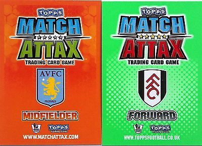 Match Attax Team Base Sets(16) 2009/10 2010/11 Com Post