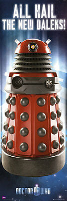 *NEW* Dr Doctor Who DALEK Wall / Door Poster 53cm wide x 158cm tall