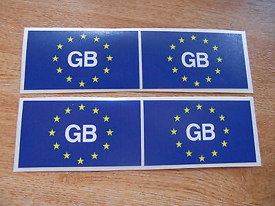 4x stickers 85mm x 50mm decals GB EURO FLAG