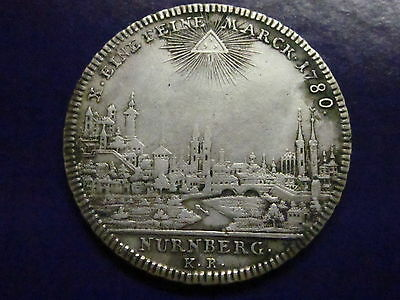 German States Nurnberg Thaler 1780 Rare City view silver