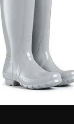 Grey Womens Designer Fashion Style Rainboots Wellingtons Tall Classic Gumboots!