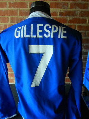 Keith Gillespie #7 Leicester City Home Football Shirt small adult ls (31422)