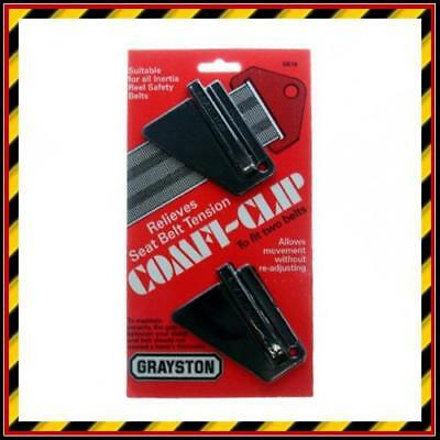 Car Safety Seat Belt Clips - Relieves Seat Belt Tension x 2 Ideal for Inertia