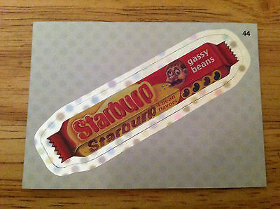 WACKY PACKAGES 2012 ANS9 SILVER FLASH FOIL STARBURST STARBURP BEANS CANDY 44 GAS