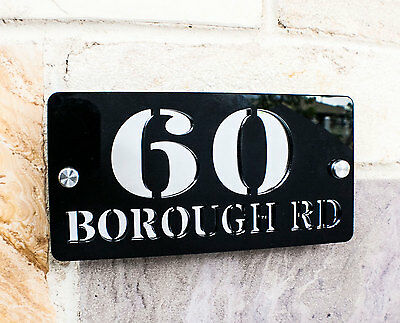 Personalised Custom Multi Colours House Sign Name Door Number Signs Plaques