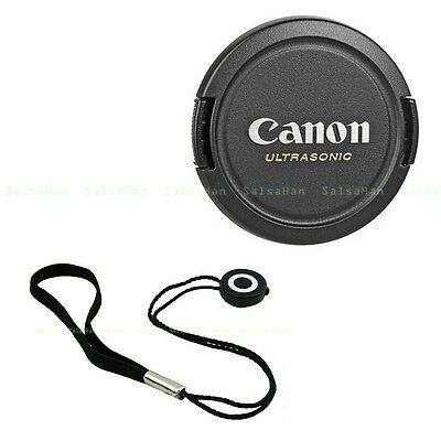 72mm Snap-on Front Lens Cap + keeper for Canon EOS 70D 60D 7D 5D EF-S 18-200mm
