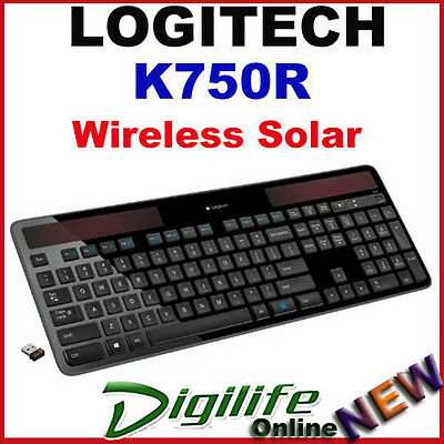 Logitech K750R Advanced 2.4GHz Wireless Solar Keyboard Light-Powered
