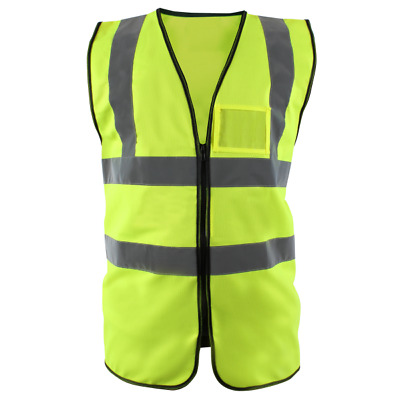 Blackrock ZIPPED Executive Hi Vis Vest High Viz Waistcoat Yellow Orange (BHZEV)