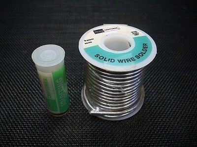 NOS Mint Craftsman 80541 One Lb Roll 50/50 Solid Wire Solder Tin / Lead & Flux