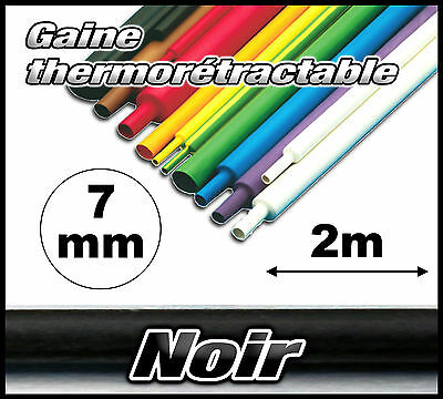 GN07-2# gaine thermorétractable noir 7mm 2m  gaine thermo